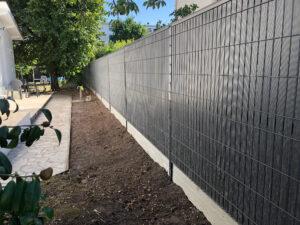60ml Clôture Rigide Ht 1m53 Ral 7016+ Plaque Béton Ht 0m25 Ton Gris Ciment