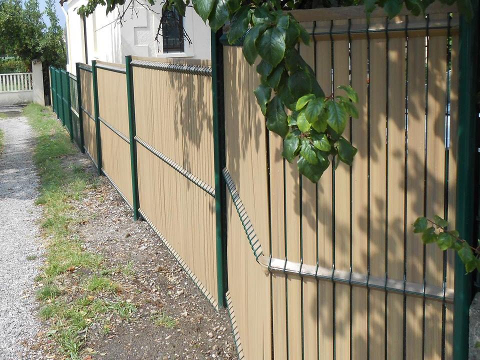 panneaux rigides avec occultation PVC coloris bambou
